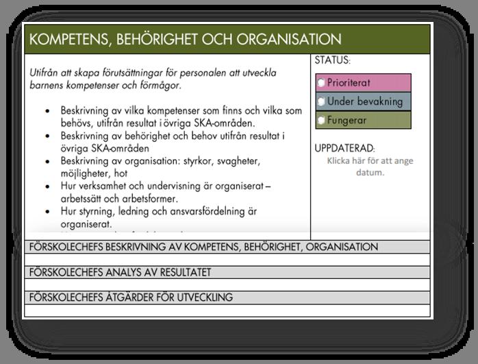 Kompetens, behörighet och organisation